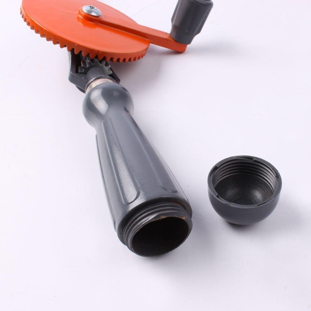 WISAMIC Handbohrmaschine Mini Hand Handbohrer 1//4 Zoll mit Doppelritzeln Design 3-Backen-Spannfutter