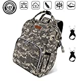 Diaper Bag Backpack,Durable Waterproof Large Capacity Multifunction Diaper Bag for Mom for Travel,Stylish Handsfree Nappy Bag with Stroller Strapst and Insulated Pocket,Camouflag