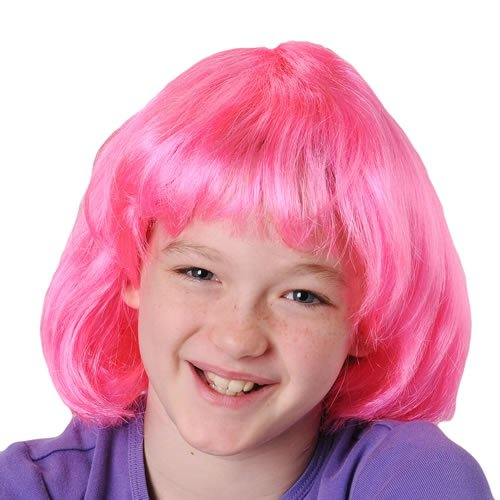 DollarItemDirect Hot Pink Mod Costume Wig, Sold by 8 Pieces