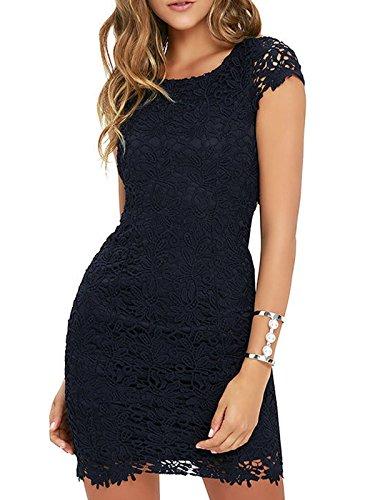 Open Back Sheath Dress - 3