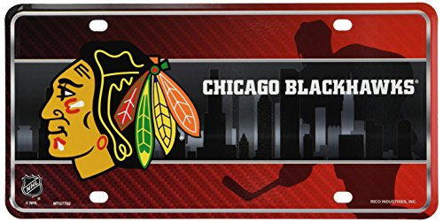 nhl-chicago-blackhawks-metal-auto-tag