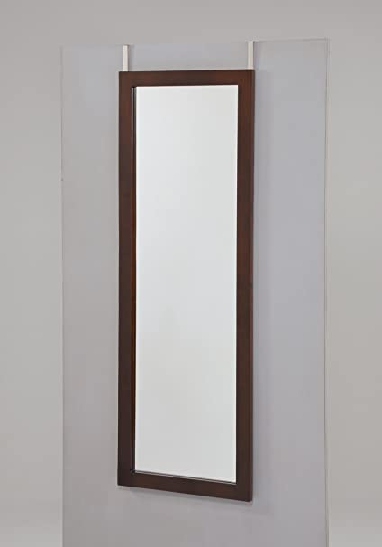Beau Espresso Finish Wooden Cheval Bedroom Wall Mount Mirror Or Over The Door