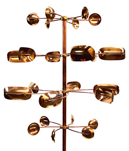 Stanwood Wind Sculpture Kinetic Copper Wind Sculpture, Quaking Aspen
