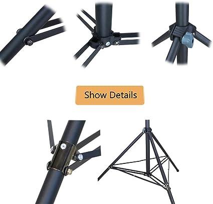 QWERTOUR Professional Quality Metal Tripod Level Nivel Tripod for Level 4 Knots Adjustable 1//4 Interface