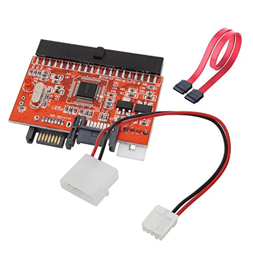 - IDE to SATA Converter, Tanbin Bidirectional IDE to SATA/SATA to IDE Interaction Mutual Converter Adapter Card With Cable, Support Desktop PC HDD DVD Hard Disk Drive