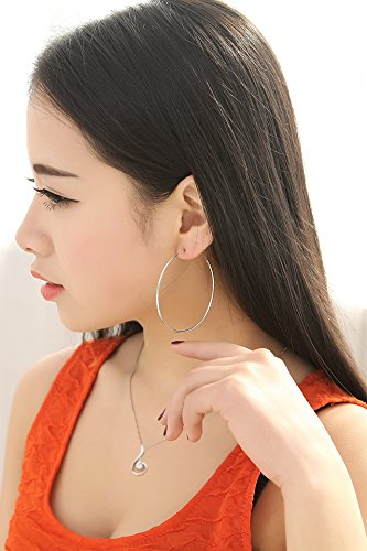 Thai Love You Beautiful Glossy Ear Hoop Earrings earings Dangler Eardrop s925 Sterling Silver Beautiful Women Girls Beauty Fashion Personality