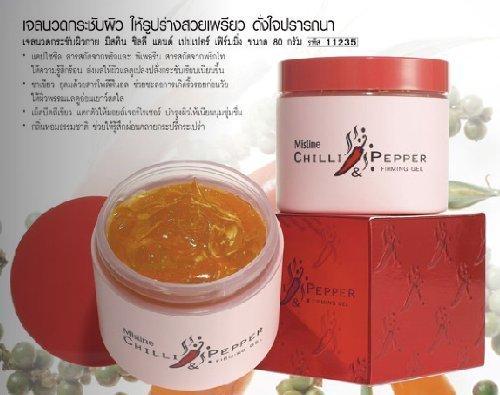 (Mistine Chilli & Pepper Body Fit Firming Slimming Reduce Cellulite Cream Gel)