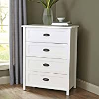 Better Homes and Gardens Engineered Wood Construction 4-Drawer Dresser in White Finish