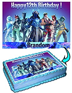 Fortnite 7 Season Personalized Cake Toppers Icing Sugar Paper 14 85 X 115 Inches Sheet Edible Frosting Photo Birthday Cake Topper Fondant Transfer Best Quality Printing from Ediblektoppers