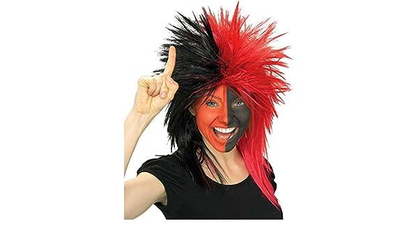 Crazy Sports Fan Wig Adult Fanatic Funny Costume Fancy Dress