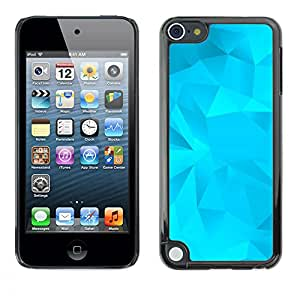 MOBMART Carcasa Funda Case Cover Armor Shell PARA Apple iPod Touch 5 - Cerulean Colored Crystals