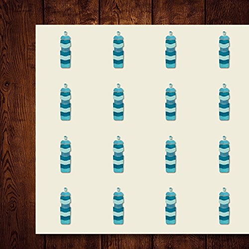 (Water Bottle Water-Bottle Water Jug Sipper Thermos Craft Stickers, 44 Stickers at 1.5 inches, Great Shapes for Scrapbook, Party, Seals, DIY Projects, Item)