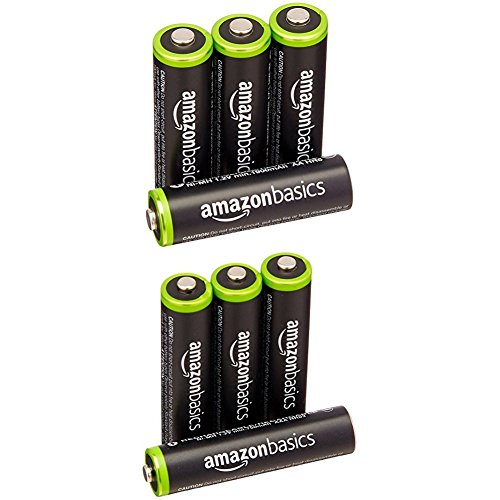 AmazonBasics Ni-MH Pre-Charged Rechargeable Batteries, 1000 Cycle