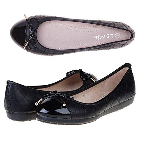 le-miu-lucky-new-womens-dress-soft-flexible-bow-rhinestone-gold-accent-comfortable-ballerina-flats-s