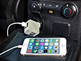 ESUMIC? 25W 4 Port USB Rapid Car Charger Travel Charger for Apple iPhone, iPad, Samsung, HTC, Nokia, Android devices (White)