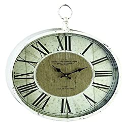 Saint-Denis Metal Wall Clock, Decorative Wall Clock, Distressed Look