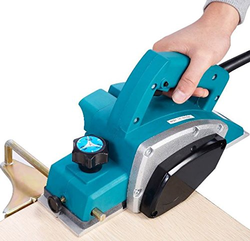 K&A Company Gopus Powerful Electric Wood Planer Door Plane Hand Held Woodworking Surface New 1000W Blue by K&A Company