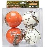 Realtree Camo Christmas Ornaments Orange & White 4 pk Camouflage
