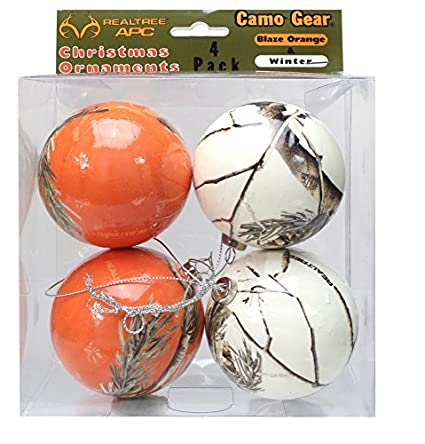 Orange and White Camouflage Christmas Ornaments - 4 Pack - Realtree Camo by  Havercamp - Amazon.com: Orange And White Camouflage Christmas Ornaments - 4 Pack