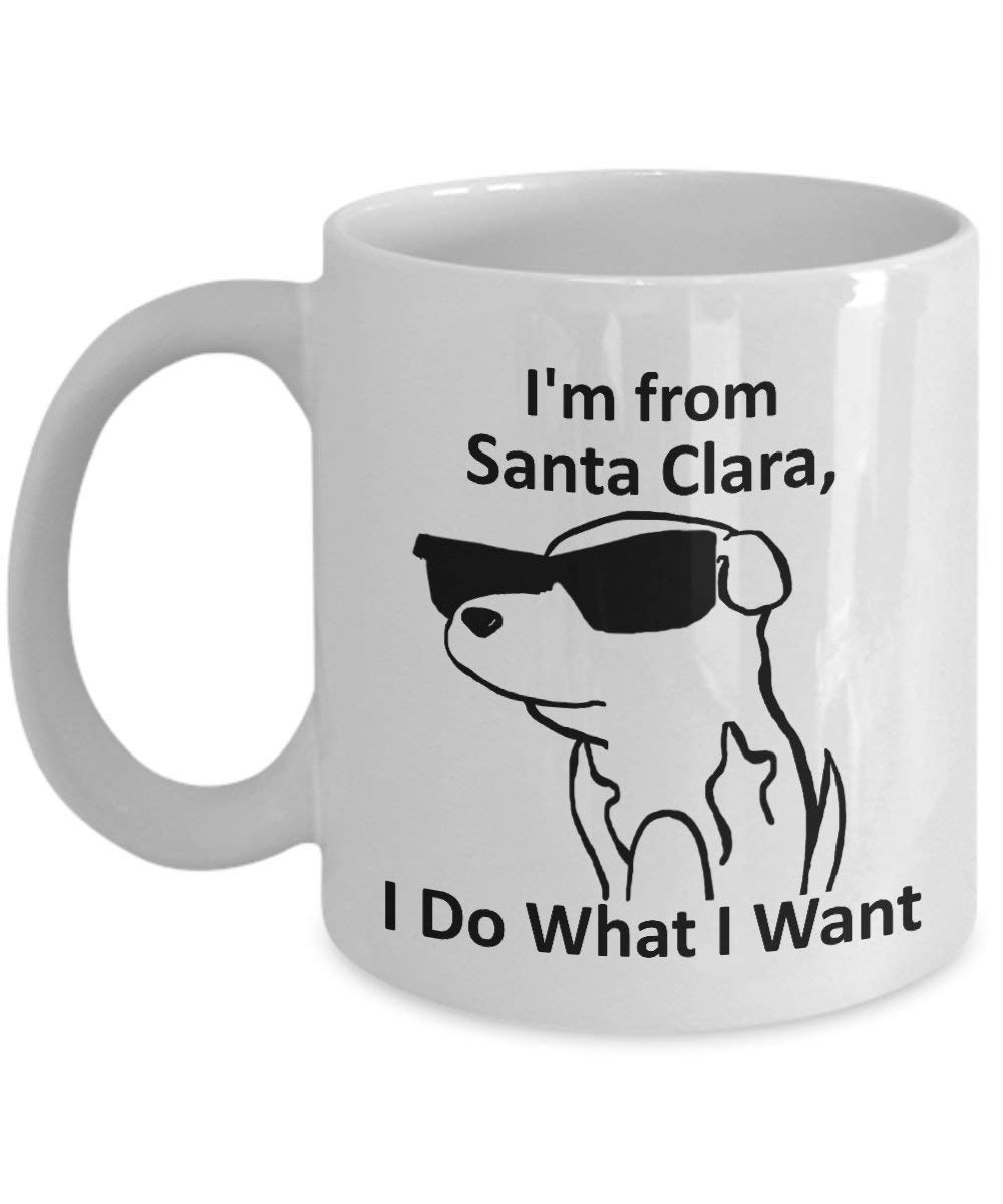 Santa Clara, California Pride Coffee Mug 11oz White Gift Cup: Amazon.es: Hogar