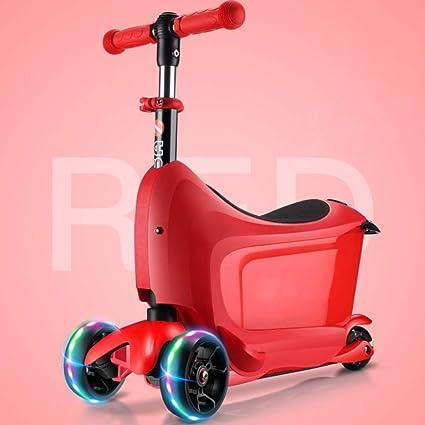 PIAOL Patinete para Niños Ajustables Scooter Plegable ...