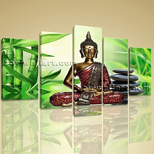 Huge Canvas Print Feng Shui Zen Art Buddha Bamboo Interior Home