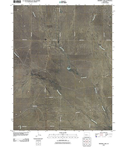 Colorado Maps   2010 Windmill Lake, CO USGS Historical Topographic Aerial Map  Fine Art Cartography Reproduction - Mills Map Colorado