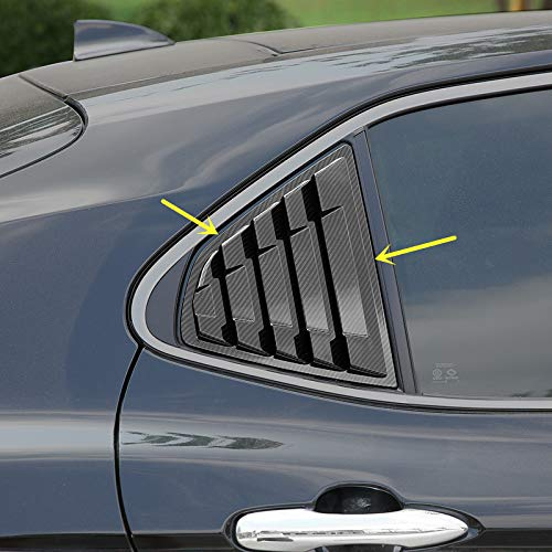 - 2X Sport Style Carbon Fiber Print Quarter Window Scoops Louvers for Toyota Camry 2018 2019
