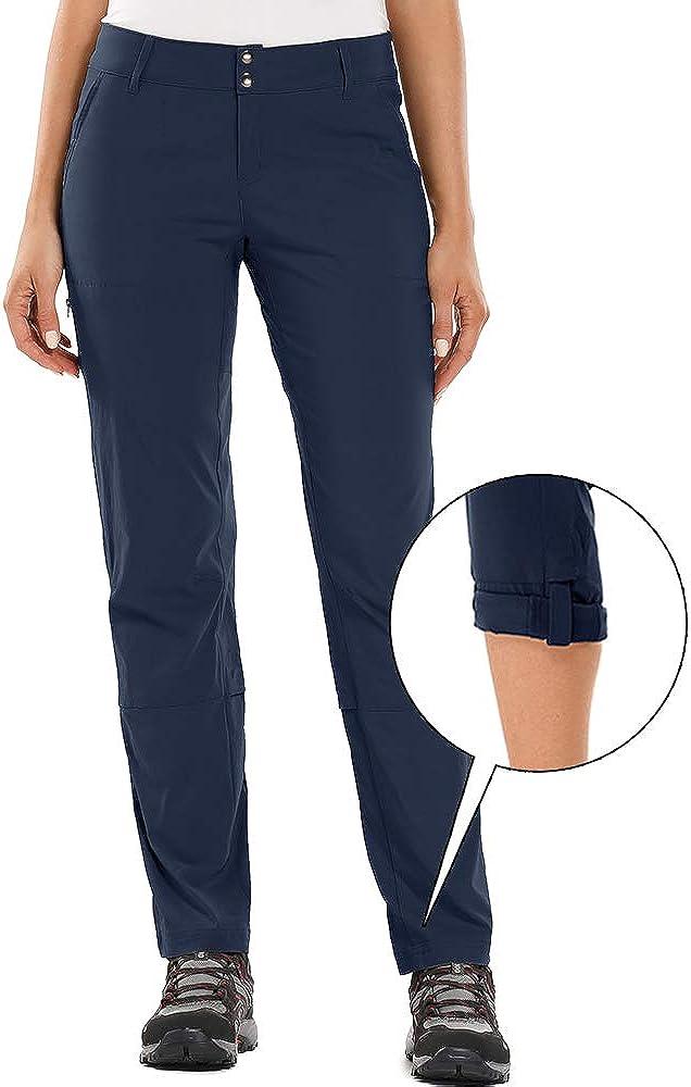 Asfixiado Womens Hiking Pants Stretch Convertible Quick Dry Lightweight UPF 40 Fishing Safari Travel Cargo Pants