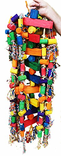 (Bonka Bird Toys 1207 Huge Tower Chewer Parrot Bird Cage Wood Cages Toy Chew Macaw Cockatoo Big Perch Playground Swing Gym Amazon Accessories African Grey )