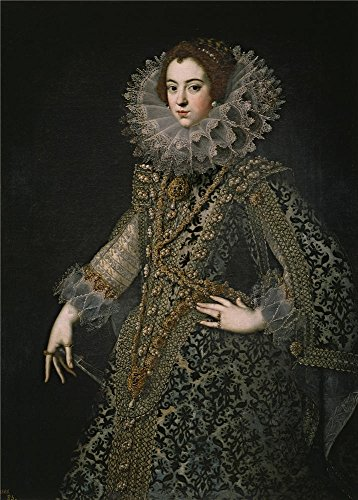 The Polyster Canvas Of Oil Painting 'Anonymous Isabel De Borbon Reina De Espana Primera Esposa De Felipe IV Ca. 1620 ' ,size: 12 X 17 Inch / 30 X 43 Cm ,this Cheap But High Quality Art Decorative Art Decorative Canvas Prints Is Fit For Nursery Artwork And Home Decor And Gifts