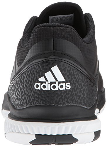 adidas Performance Women's Crazyflight Bounce W Volleyball Shoe, Black/White/Black, 10 Medium US