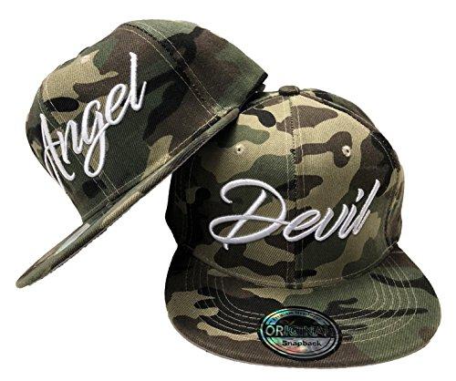 JameStyle26 - Gorra de béisbol - para Hombre Angel & Devil Camouflage Set