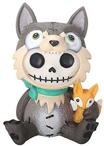 SUMMIT COLLECTION Furrybones Wolfgang Signature Skeleton in Wolf Costume with Fox Friend
