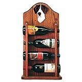 MANTLE Great Dane Wine Rack 4 Bottle Design in Dark Oak by Michael Park