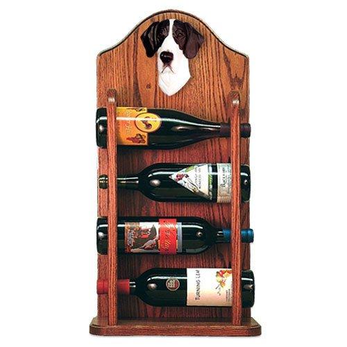 MANTLE Great Dane Wine Rack 4 Bottle Design in Dark Oak by Michael Park by Michael Park