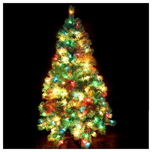 CASA CLAUSI Christmas Tree 5 Feet Pre-lit Multi-Colored Lights Artificial Green Madison Pine ()