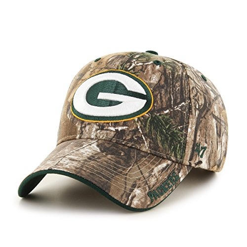 NFL Green Bay Packers '47 Frost MVP Camo Adjustable Hat, One Size Fits Most, Realtree (Frost Green)