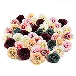 Fake flower heads in bulk Wholesale for Crafts Peony Flower Head Silk Artificial Flower Wedding Decoration DIY Party Birthday Home Decor Garland Craft Flower 30pcs/lot 4.5cm 61