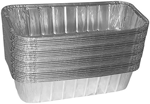 "TYH Supplies 30-Pack Aluminum Foil BBQ Grease Drip Pans Compatible with Weber Genesis II LX 400 & 600, Summit 400 & 600 Series, and Summit Gold & Platinum 6-Burner Model Gas Grill 9.75"" x 3.75"""