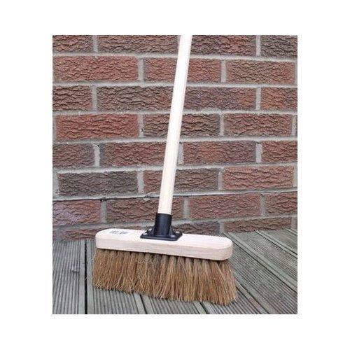 10' Soft Sweeping Yard Brush, Natural Broom Brush with Handle Simple DIY