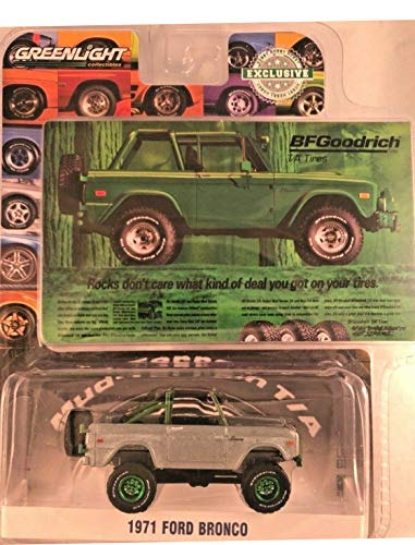 - Greenlight Rare Chase Green Machine 29942 BFGoodrich 1971 Ford Bronco 1:64 Scale