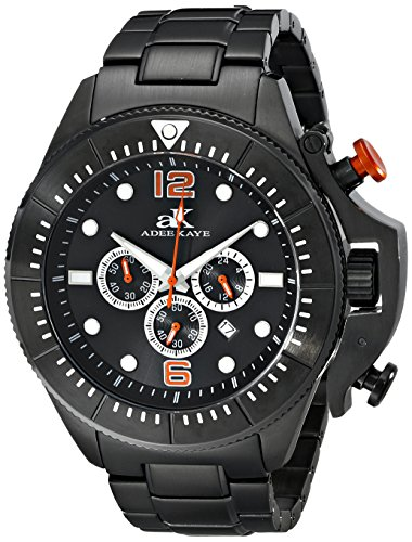 Adee Kaye Men's AK9041-MIPB Guardian Analog Display Japanese Quartz Black Watch