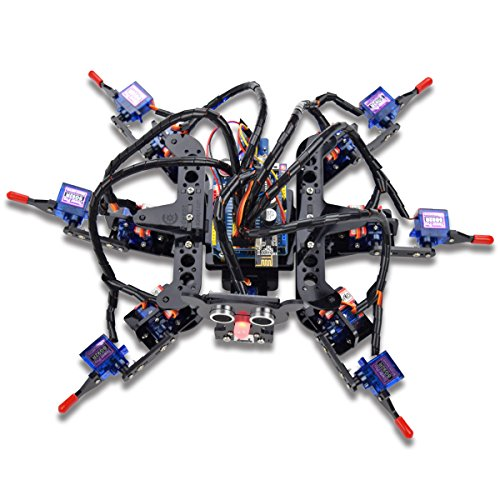 Adeept Hexapod 6-Legs Spider Robot Kit for Arduino UNO R3 and Nano | 2.4G Wireless Remote Control | Obstacle Avoidance | Robot Starter Kit, Arduino Robotics Model, Arduino Starter Kit with Tutorial