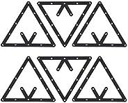 Billiard Rack, 6Pcs/Set Triangle Rack Pool Table Ball Holder Positioning Rack Billiard Accessory