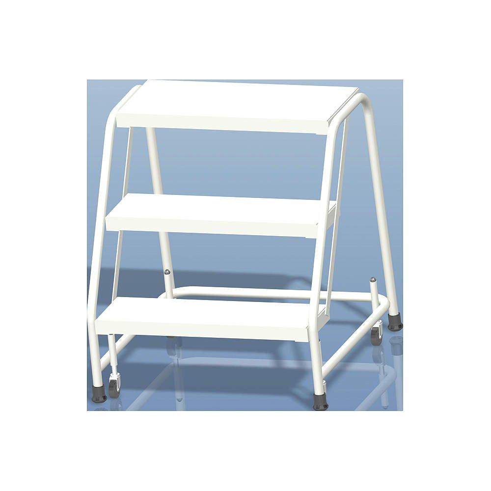 ballymore escalera con ruedas de resorte de aluminio duro – 3 paso, 30 x 25 cm – -1 cada.: Amazon.es: Amazon.es