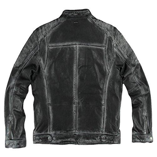 engbers Herren Lederjacke im Bikerstyle, 24010, Grau