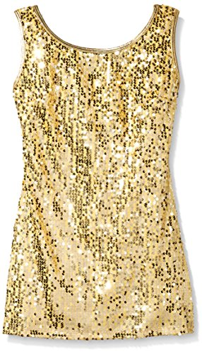 Gia Mia Dance Big Girls Sequin Tunic Dress, Gold, Medium by Gia Mia