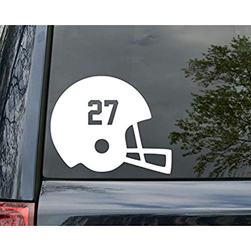A Good Decals USA Football Helmet Vinyl Decal Sticker with Custom Numbers 6