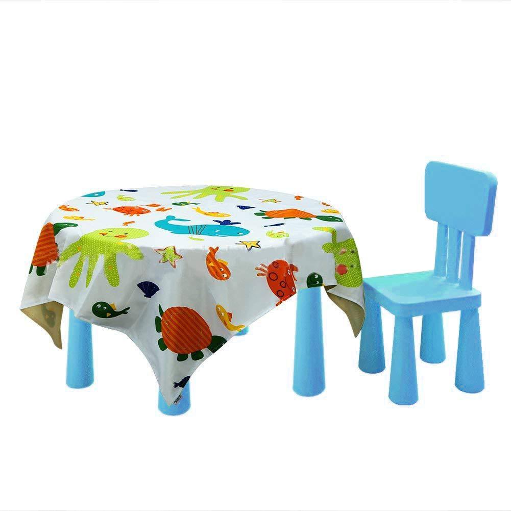 versch/üttete Tischmatten und tragbare Spielmatte f/ür Kinder Kleinkinder niedlich waschbar unter Hochstuhl-F/ütterung wiederverwendbar Bodenschutz Baby-Hochstuhl-Matte Boden-Abdeckung Essenssplat